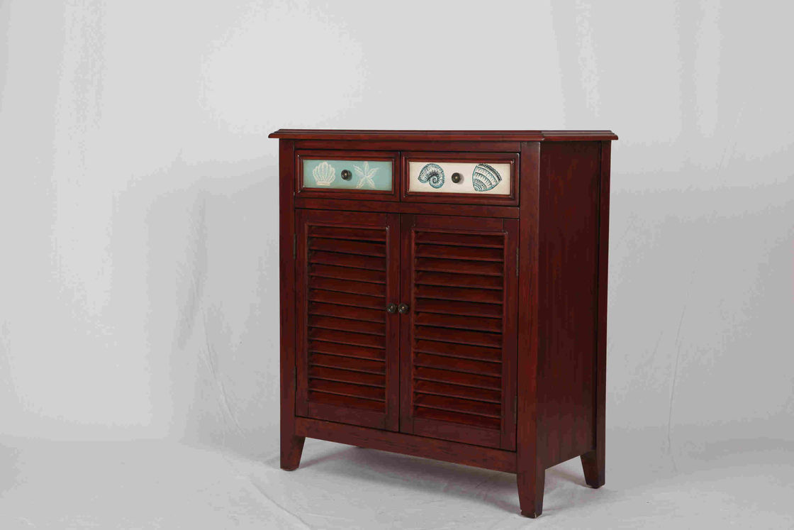 Walnut Office / Home Storage Cabinets With Doors Soild Wood L81*W38.5*H91CM