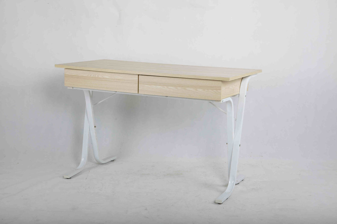 White Oak Study Home Office Computer Desk With Drawer Adjustable Base